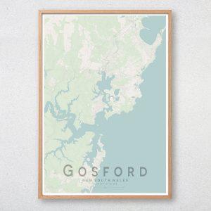 Gosford Map Print