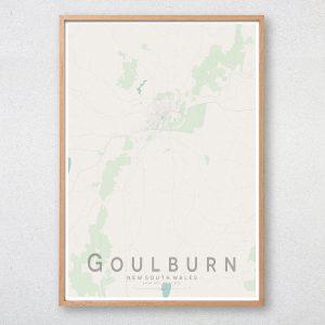 Goulburn Map Print