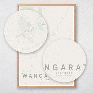 Wangaratta Map Print