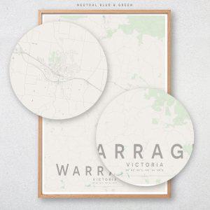 Warragul Map Print
