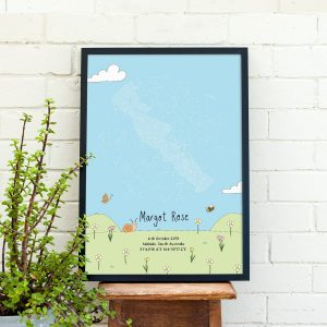 Custom Meadow Star Map Print
