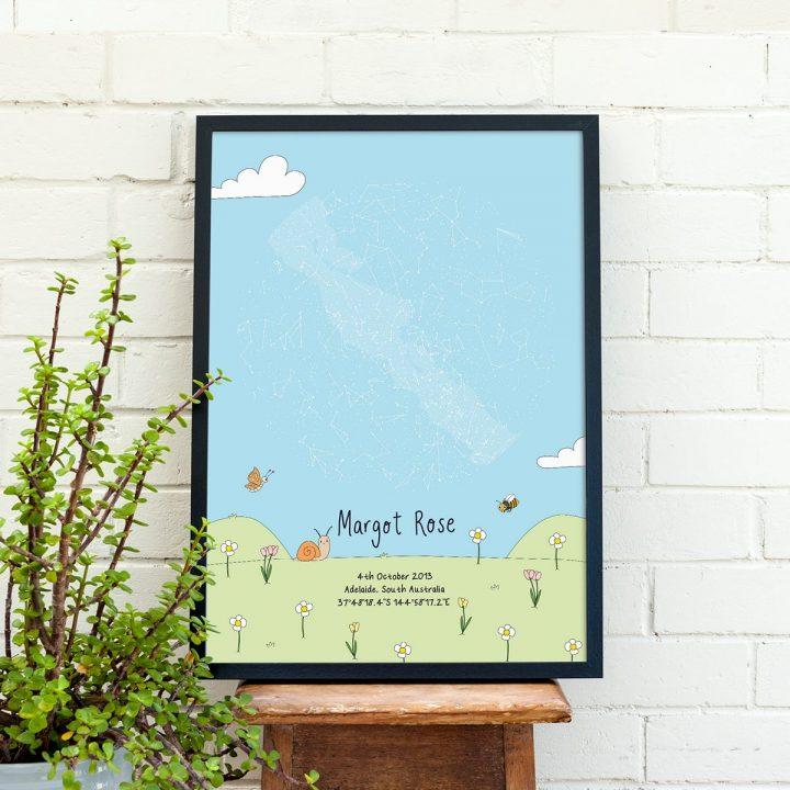 Custom Meadow Star Map Print