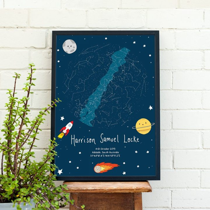 Custom Space Star Map Print