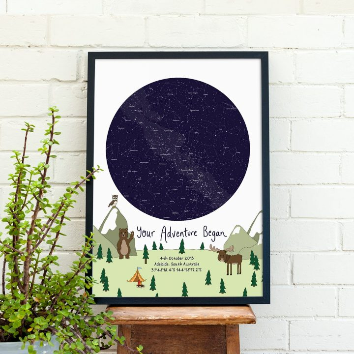 Custom Woodland Star Map Print