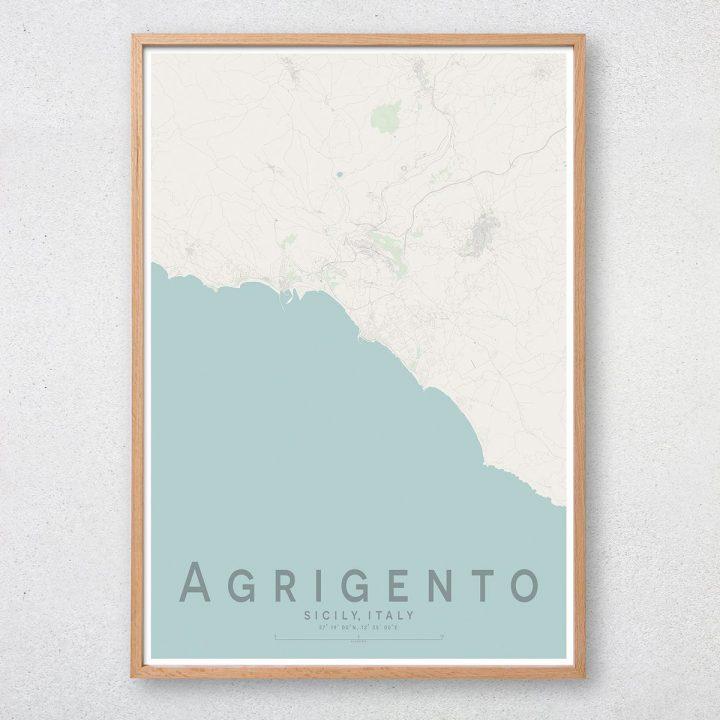 Agrigento Map Print