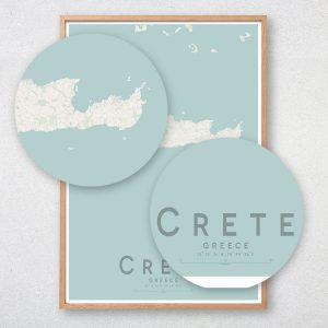 Crete Map Print