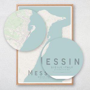 Messina Map Print