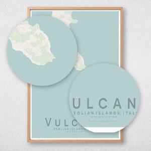 Vulcano Map Print
