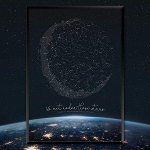 Custom Earth Star Map Print