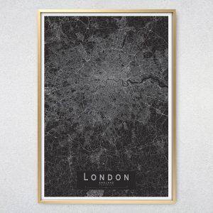London Monochrome Map Print