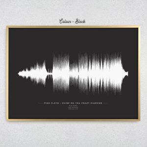 Custom Soundwave Print Black