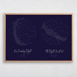 Custom Double Star Map Print