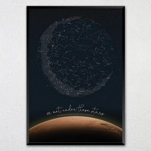 Custom Mars Star Map Print