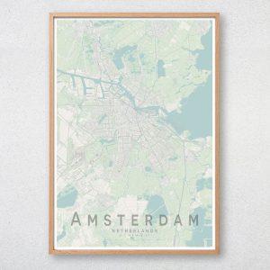 Amsterdam Map Print