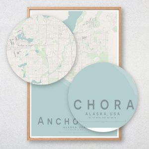 Anchorage Map Print