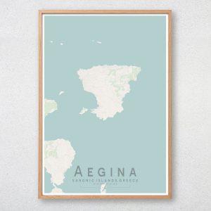 Aegina Map Print