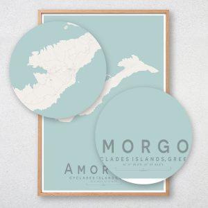 Amorgos Map Print