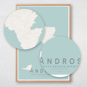 Andros Map Print